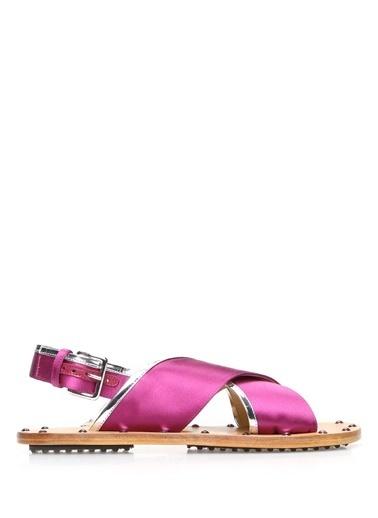 Marni %100 Deri Sandalet Mor